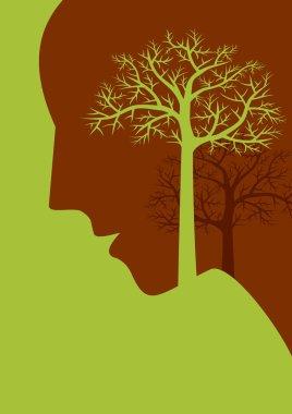 thinking save tree.