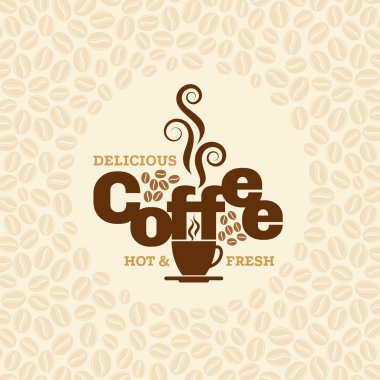 Coffee design template, creative vector for coffee shop and restaurant clip art vector