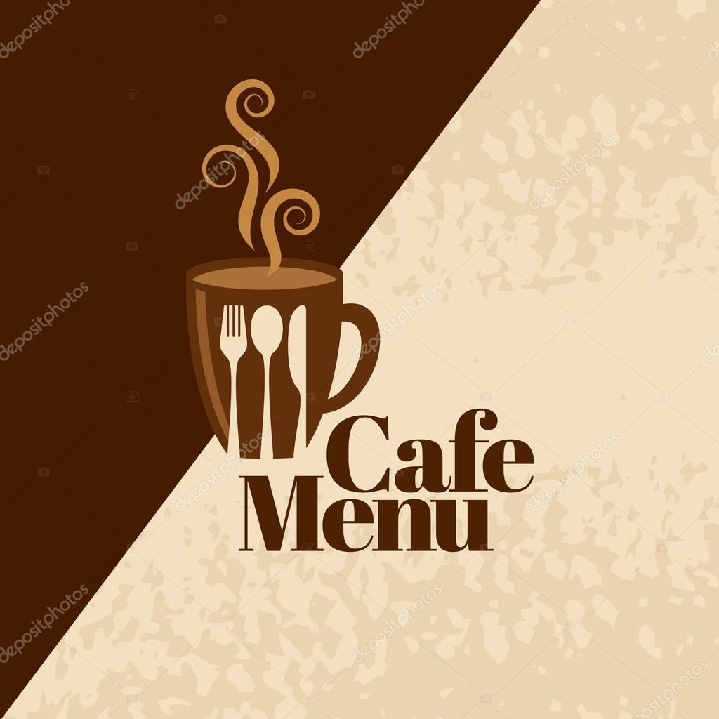 plantilla de diseño café — Vector de stock © arrtfoto #126081338