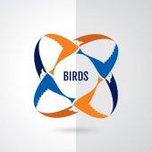 Létající pták konceptu nebo logo design