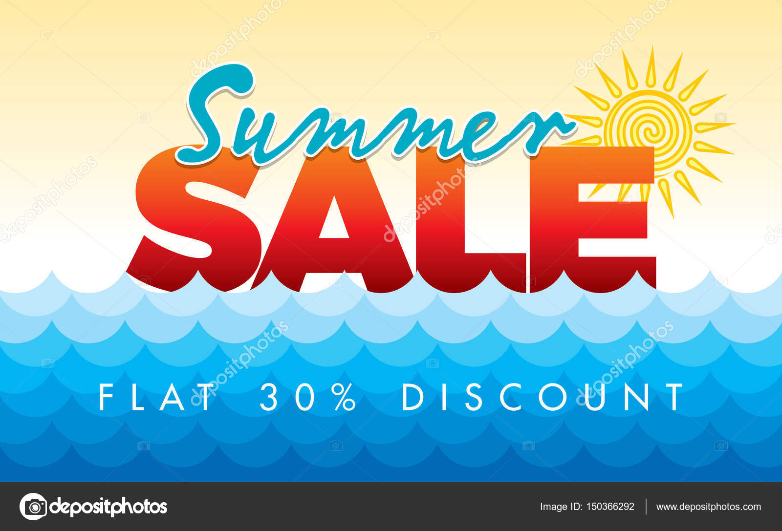 Summer Sale banner design template — Stock Vector ...