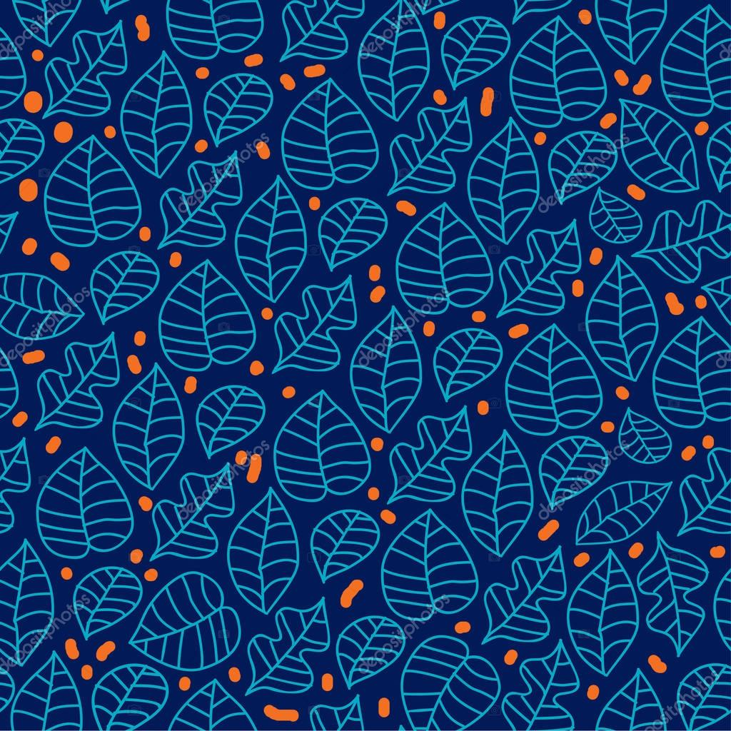 Abstract Nature Pattern with plants