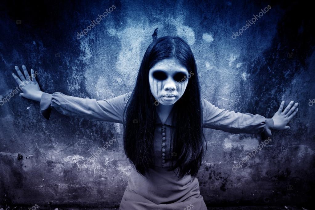 Fantome Fond Effrayant Pour Halloween Concept Et De La
