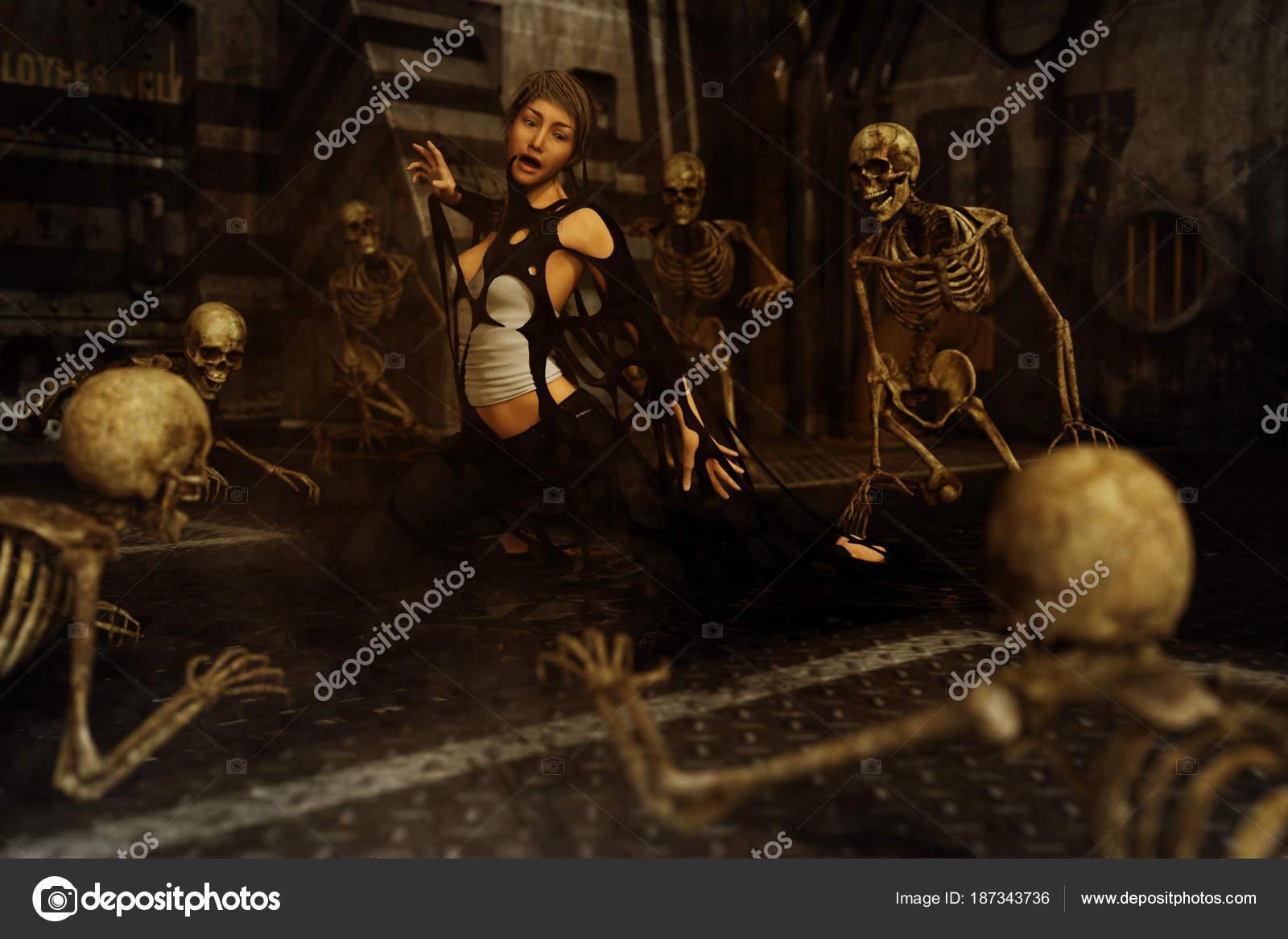 Piege Mortel Fiction D Horreur Art 3d Pour La Couverture Du