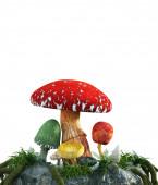 Mushrooms for fantasy scene,3D illustration