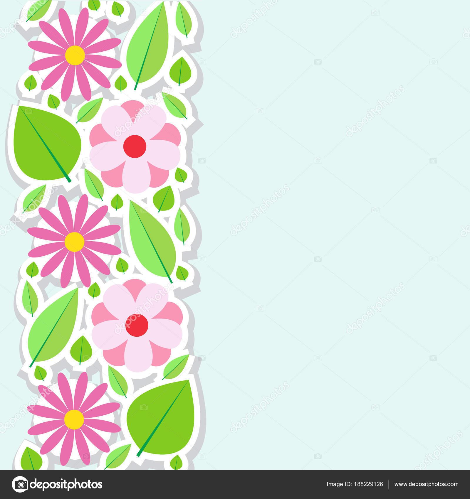 Spring flowers border vector illustration stock vector spring flowers border vector illustration stock vector mightylinksfo