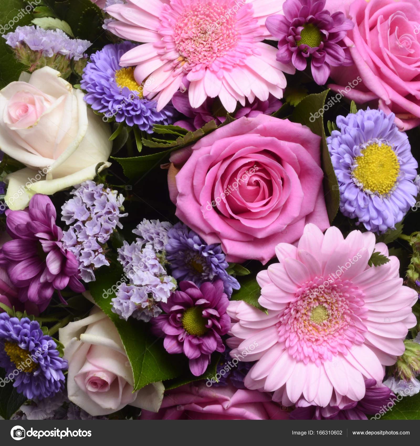 Imágenes Flores Para Ramo De Flores Para Fondo Foto De Stock