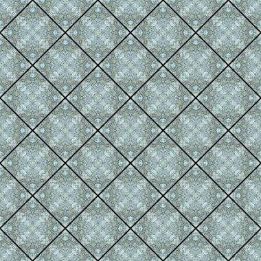 Blue Tile Abstract Seamless Pattern Illustration