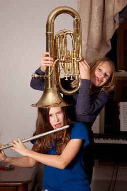 goofing around with instruments