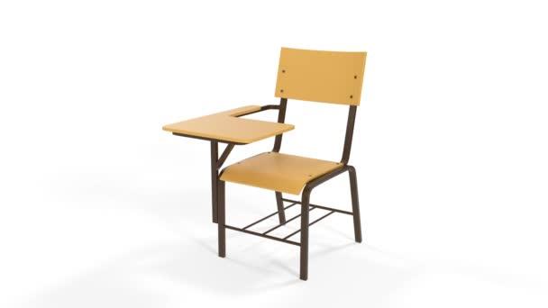 Skládací židle animace školy