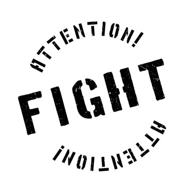 Fight rubber stamp