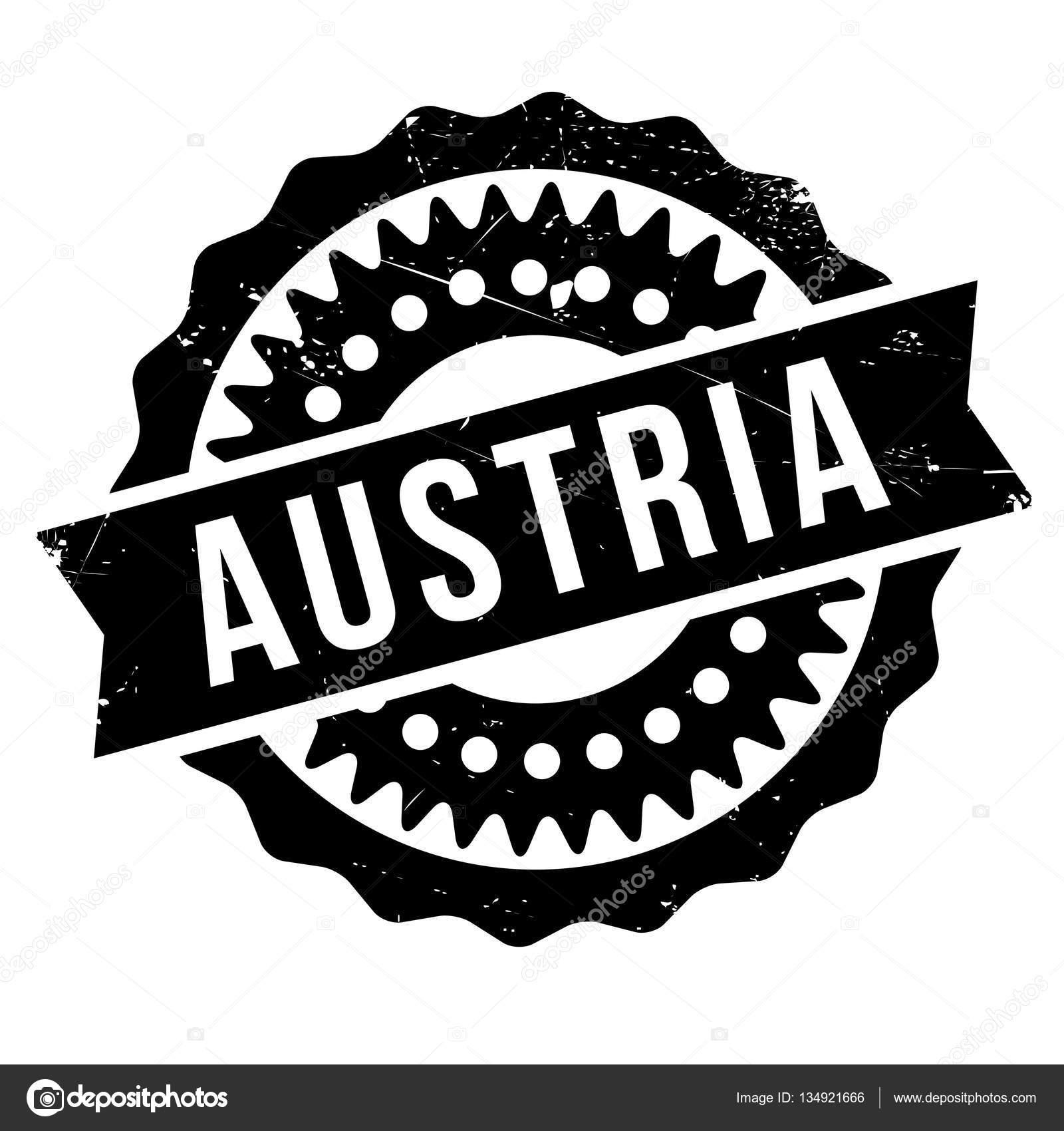Austria Stamp Rubber Grunge Stock Illustration