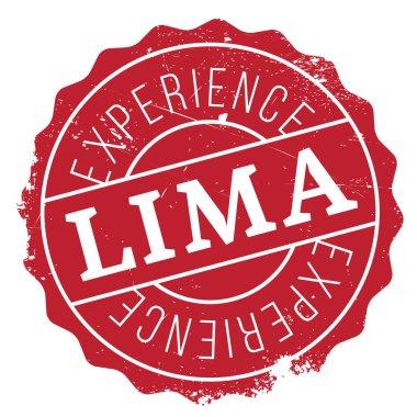 Lima stamp rubber grunge