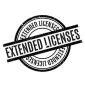Photo Extended Licenses rubber stamp