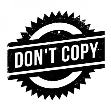 Do not Copy rubber stamp