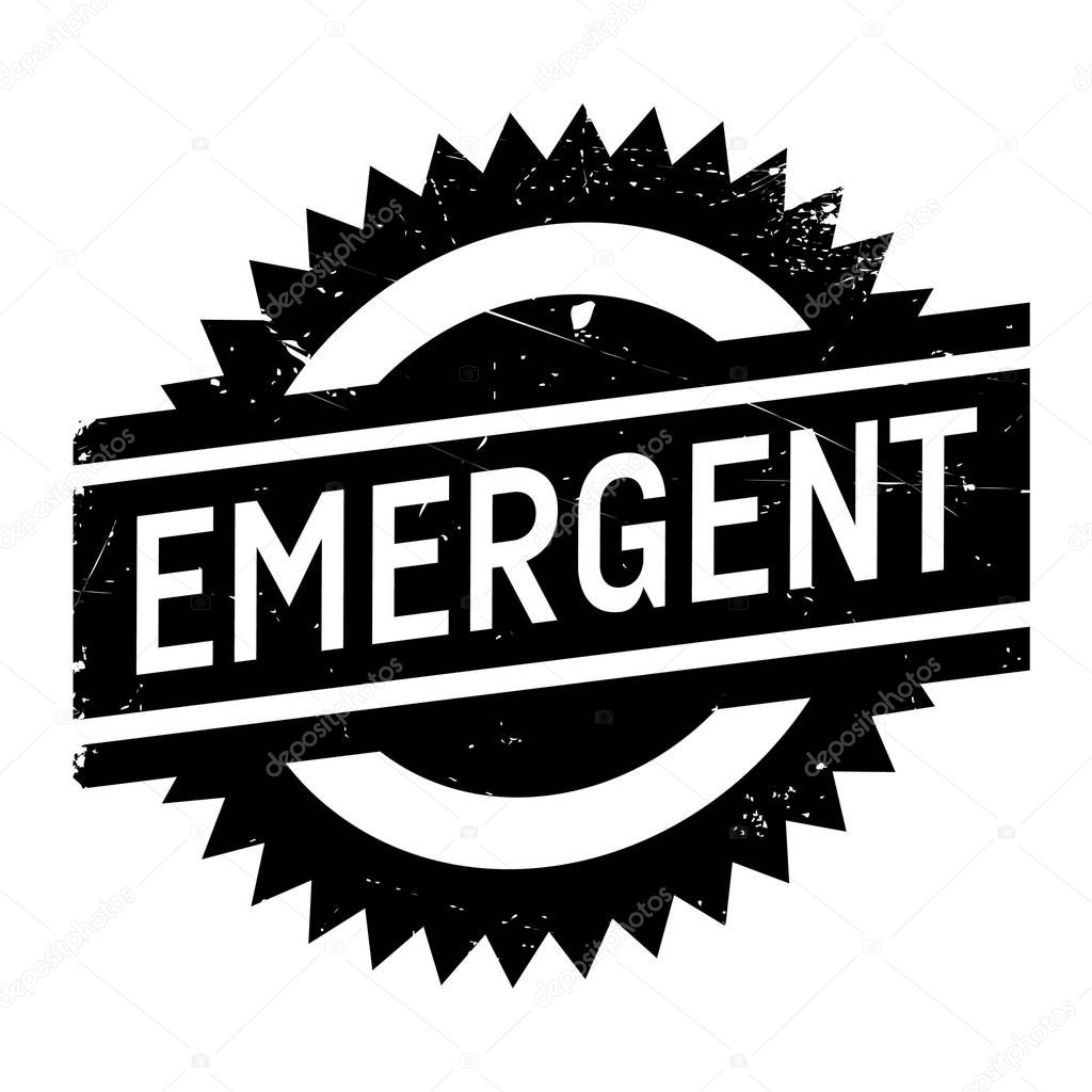 Emergent rubber stamp