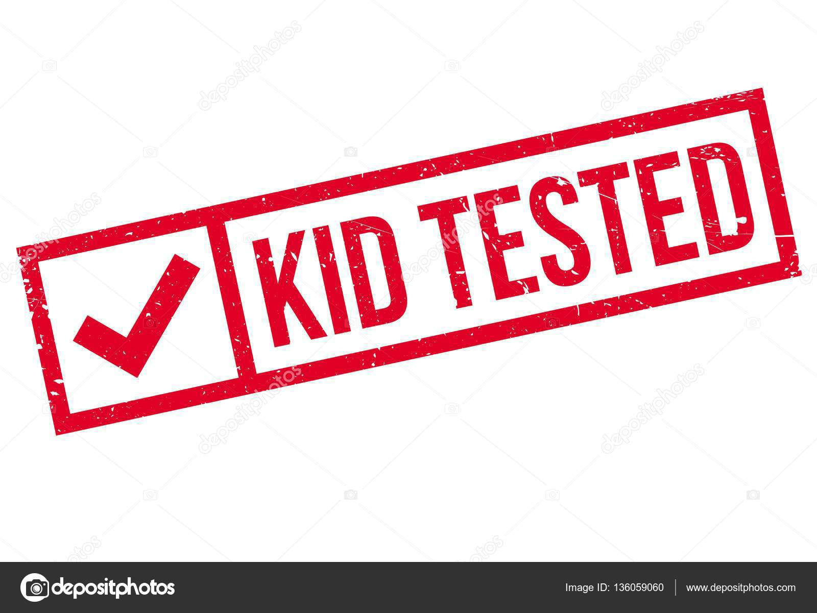 Kid Tested Rubber Stamp Stock Vector