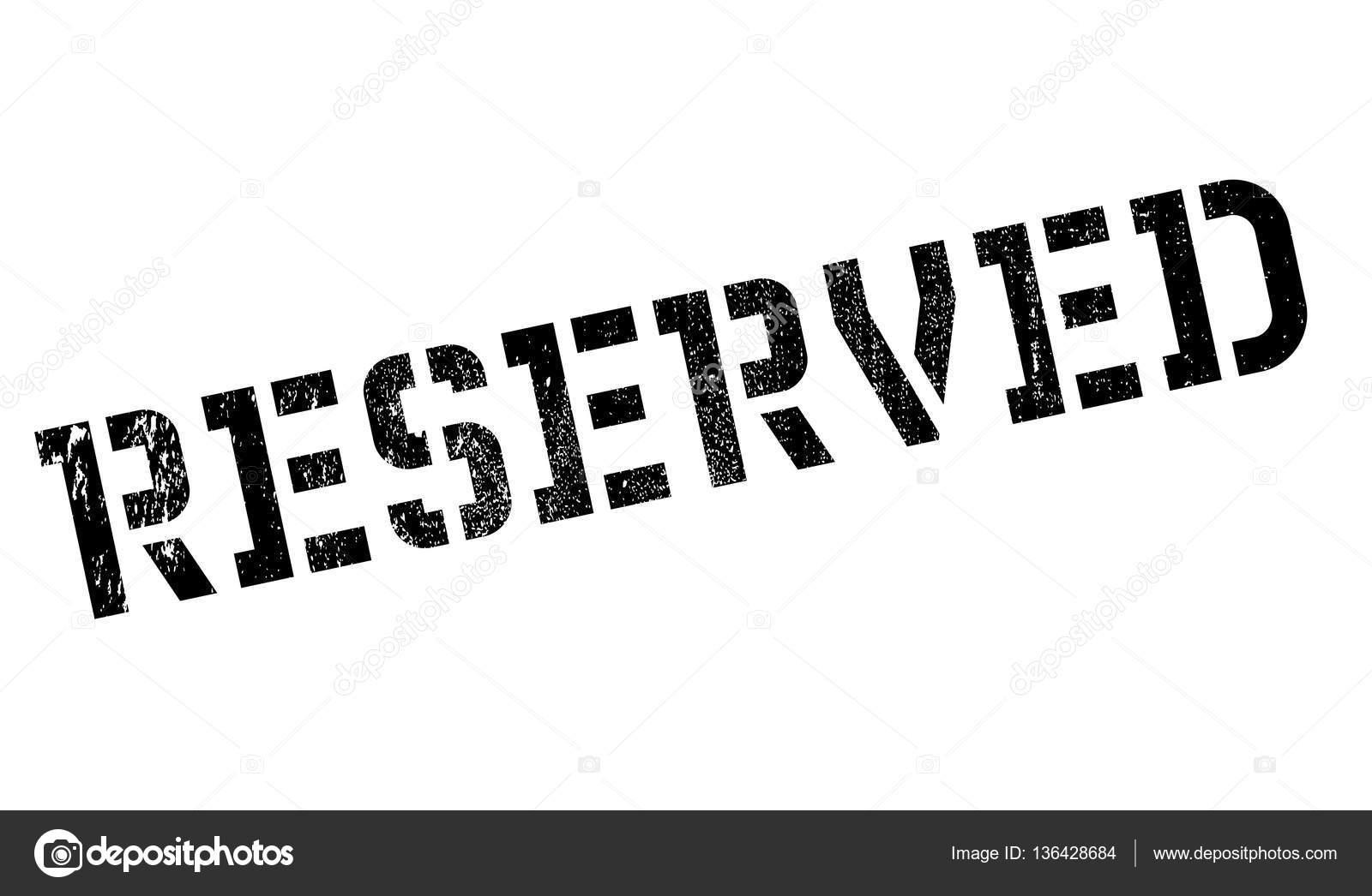sello de goma reservado — Vector de stock © lkeskinen0 #136428684