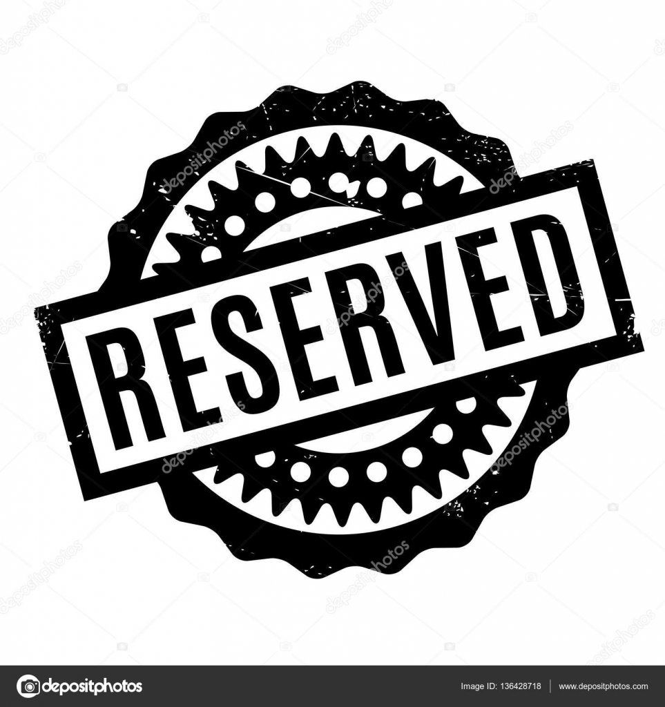 sello de goma reservado — Vector de stock © lkeskinen0 #136428718