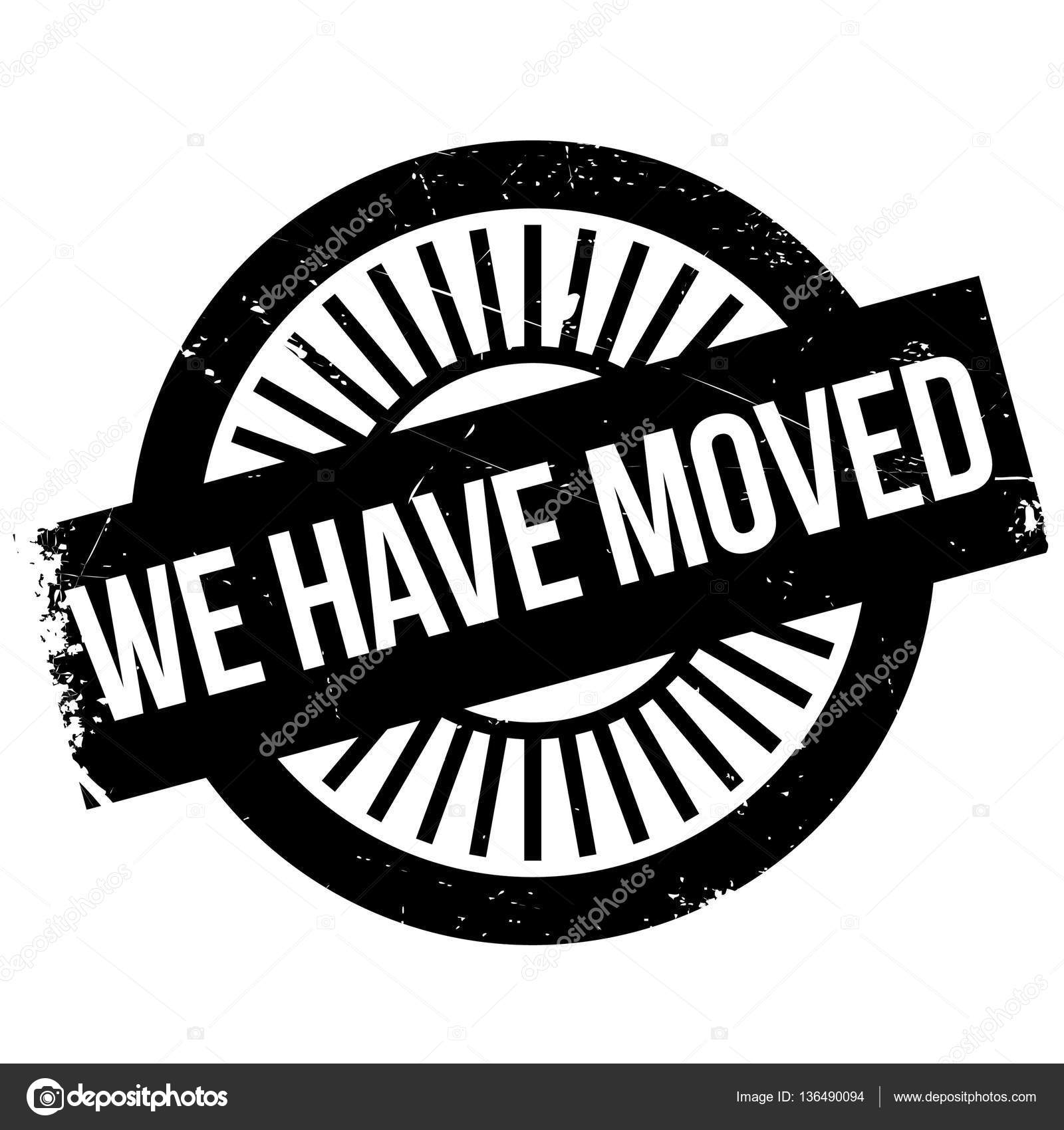We Have Moved Stamp Stock Vector