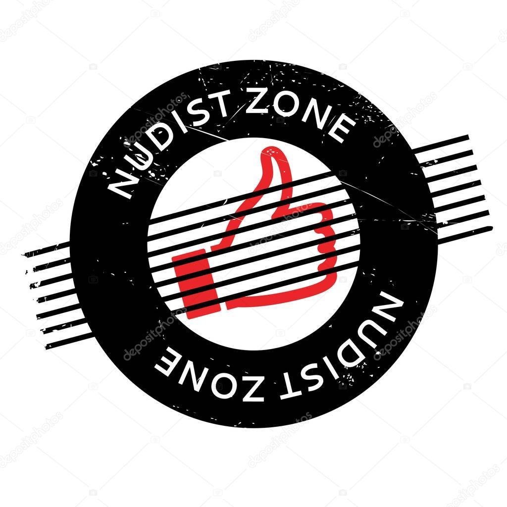 Nudist Zone ... Nudist Zone rubber stamp ...