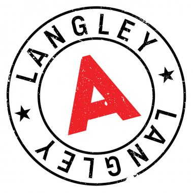 Langley stamp rubber grunge