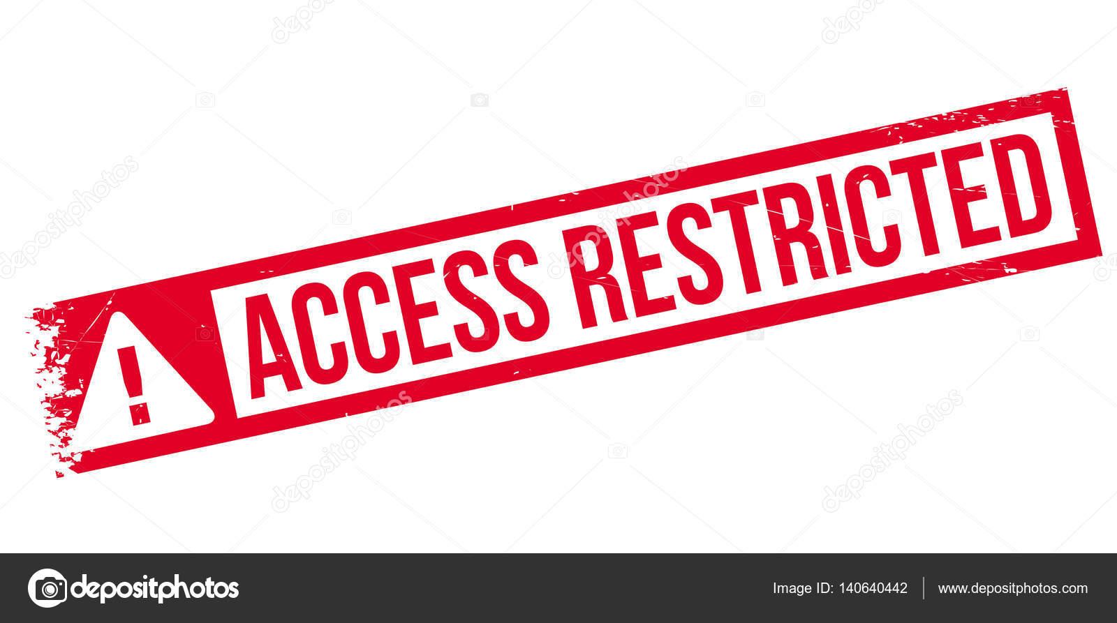Acceso restringido sello de goma vector de stock lkeskinen0 acceso restringido sello de goma vector de stock altavistaventures Gallery