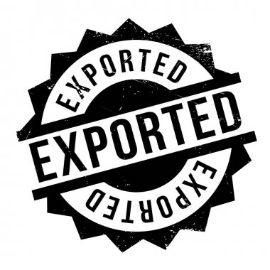 Exported rubber stamp
