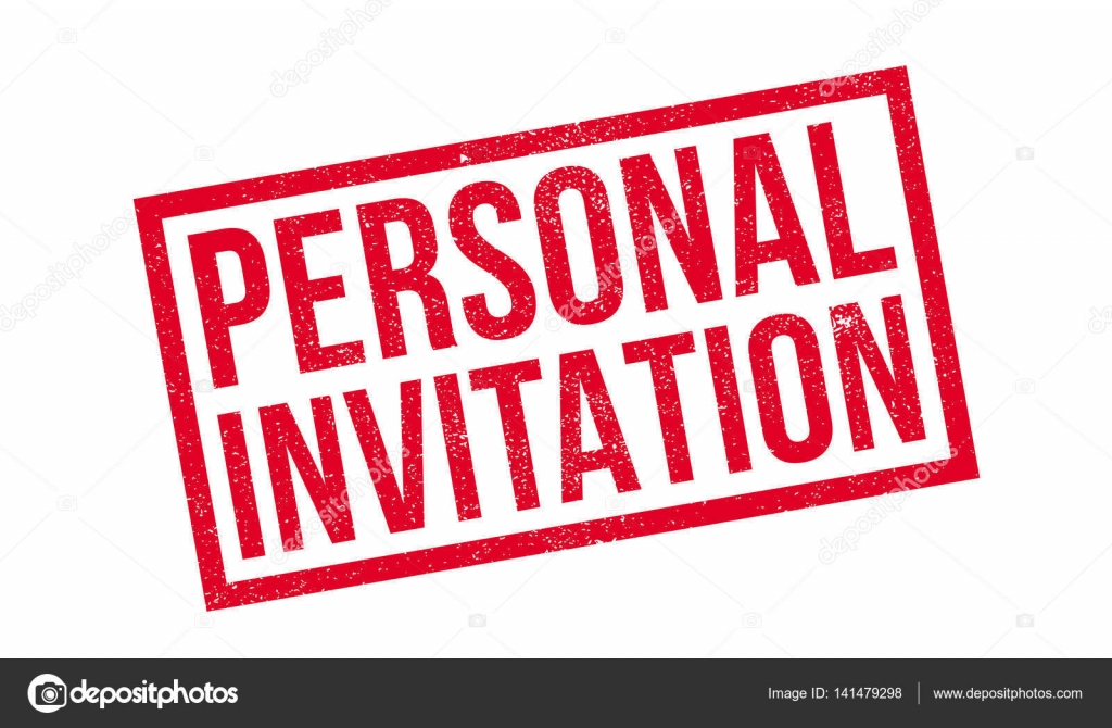 Personal Invitation rubber stamp — Stock Vector © lkeskinen0 #141479298