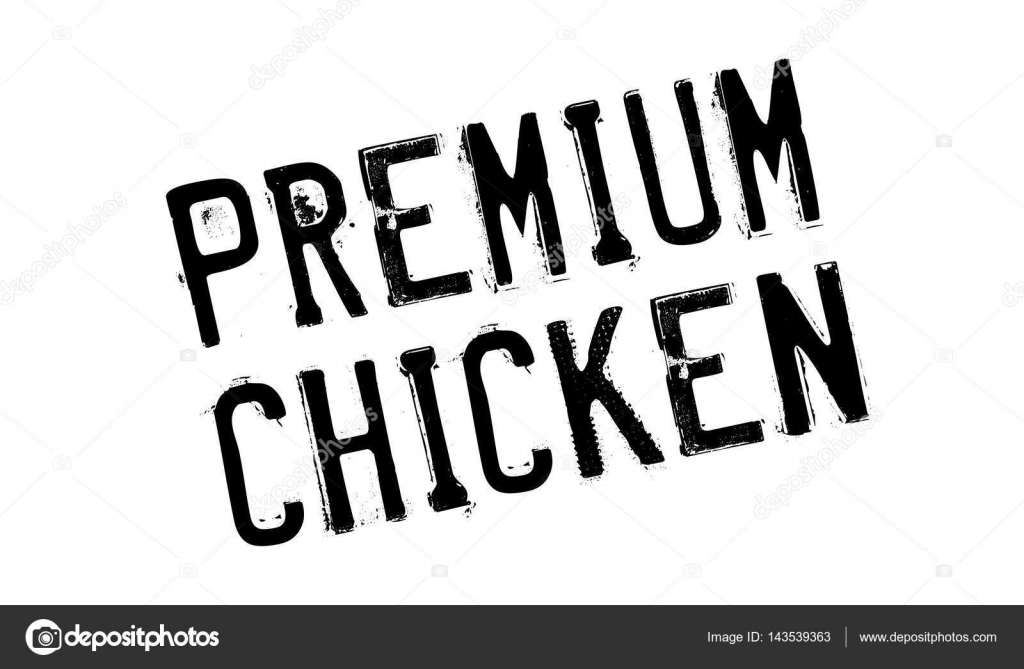 Premium Chicken Rubber Stamp Stock Vector