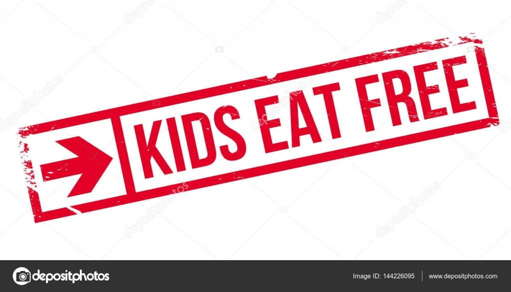 Kinder essen kostenlos Stempel — Stockvektor © lkeskinen0 #144226095