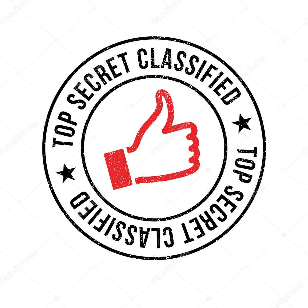 Top Secret Classified rubber stamp