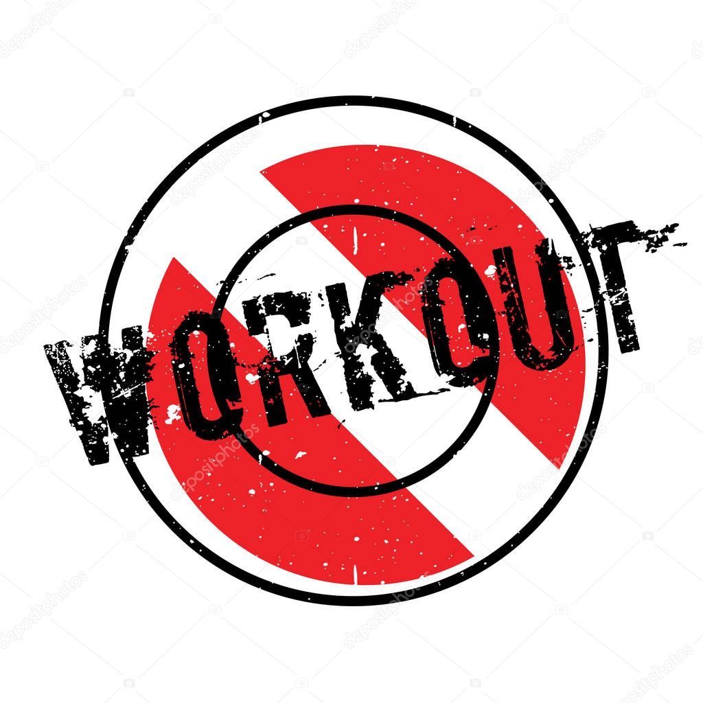 Workout rubber stamp