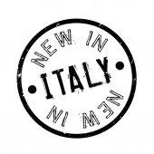 Fotografia Timbro di gomma di nuovo In Italia