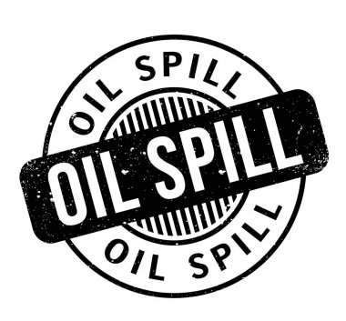 Oil Spill rubber stamp