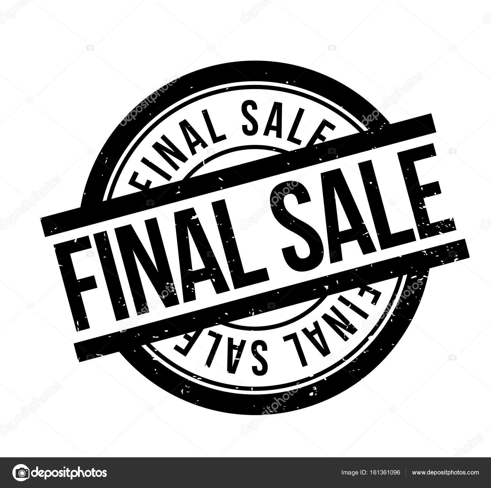 Final Sale Rubber Stamp Stock Vector 161361096