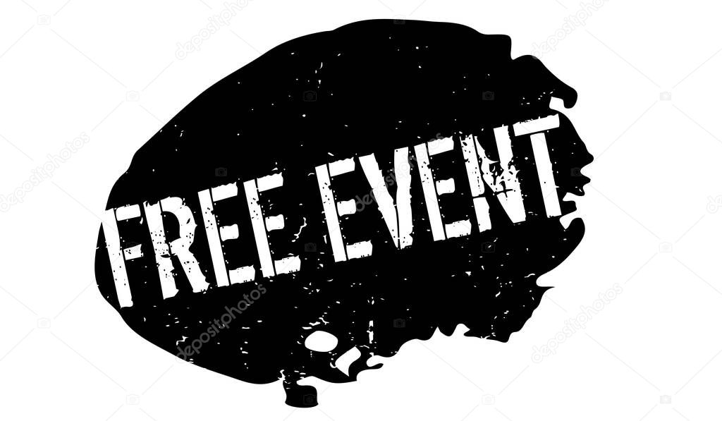 Free Event rubber stamp