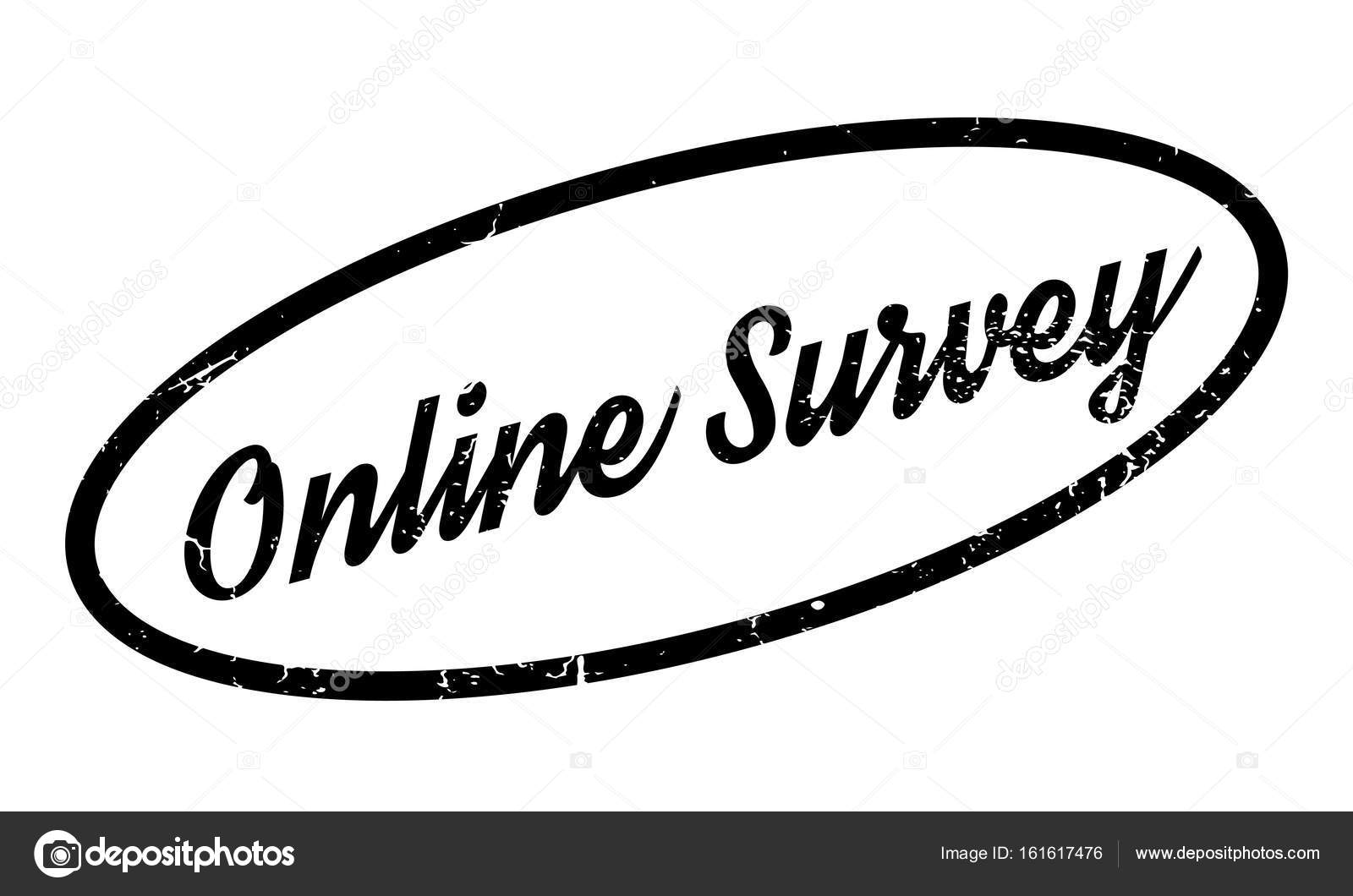 online survey rubber stamp stock vector lkeskinen0 161617476