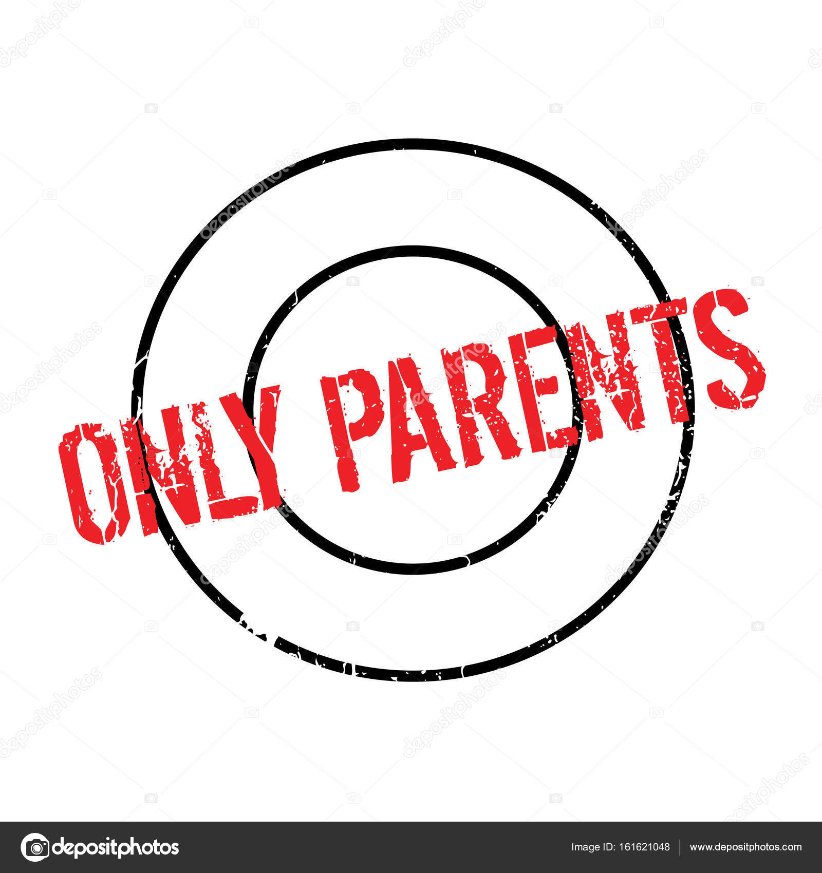 Only Parents Rubber Stamp Stock Vector C Lkeskinen0 161621048
