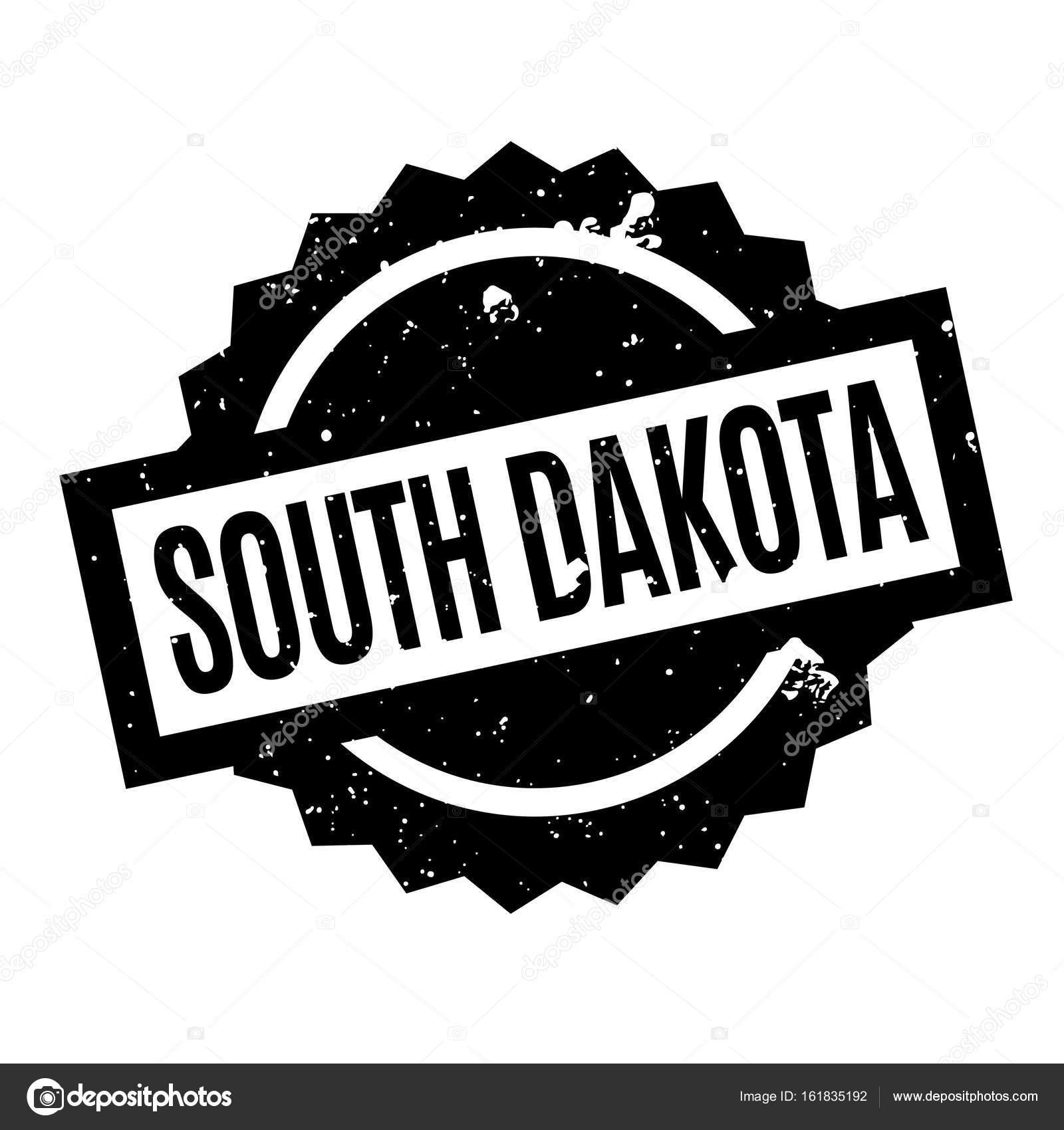 South Dakota Rubber Stamp Stock Vector