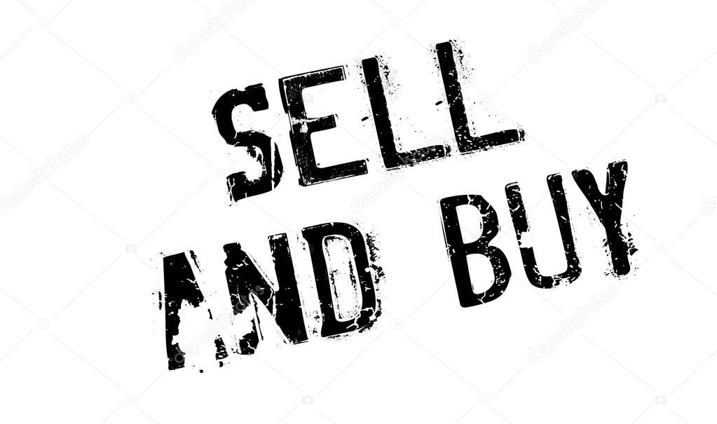 Sell And Buy rubber stamp