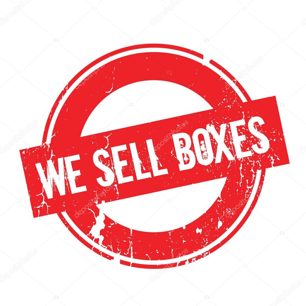We Sell Boxes rubber stamp