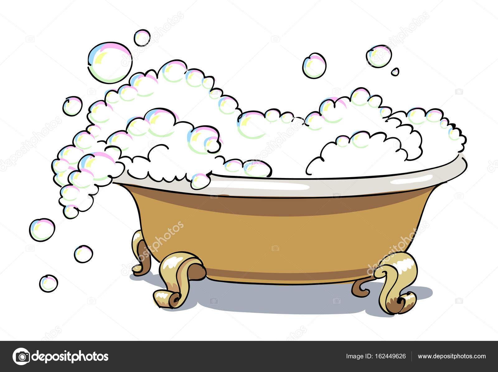 Comic Bild Der Badewanne Stockvektor Lkeskinen0 162449626