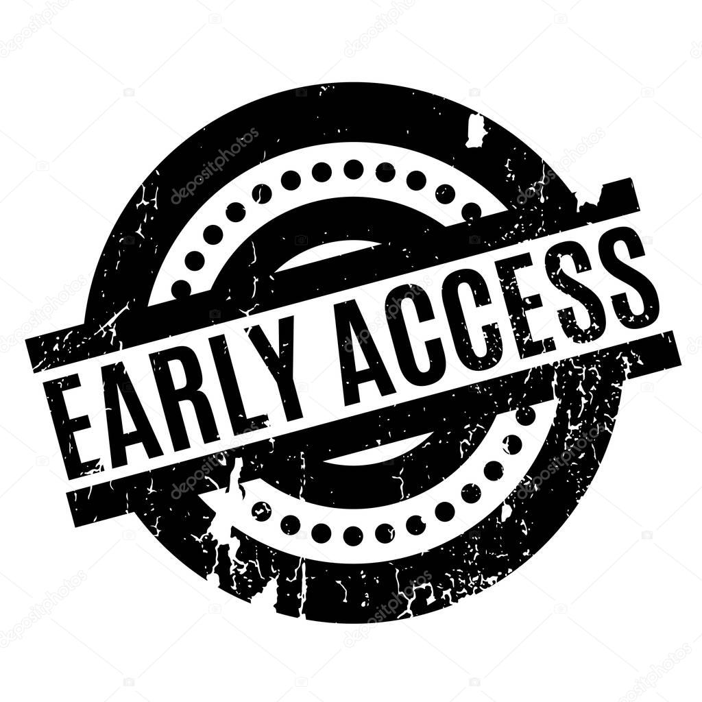 Early Access rubber stamp