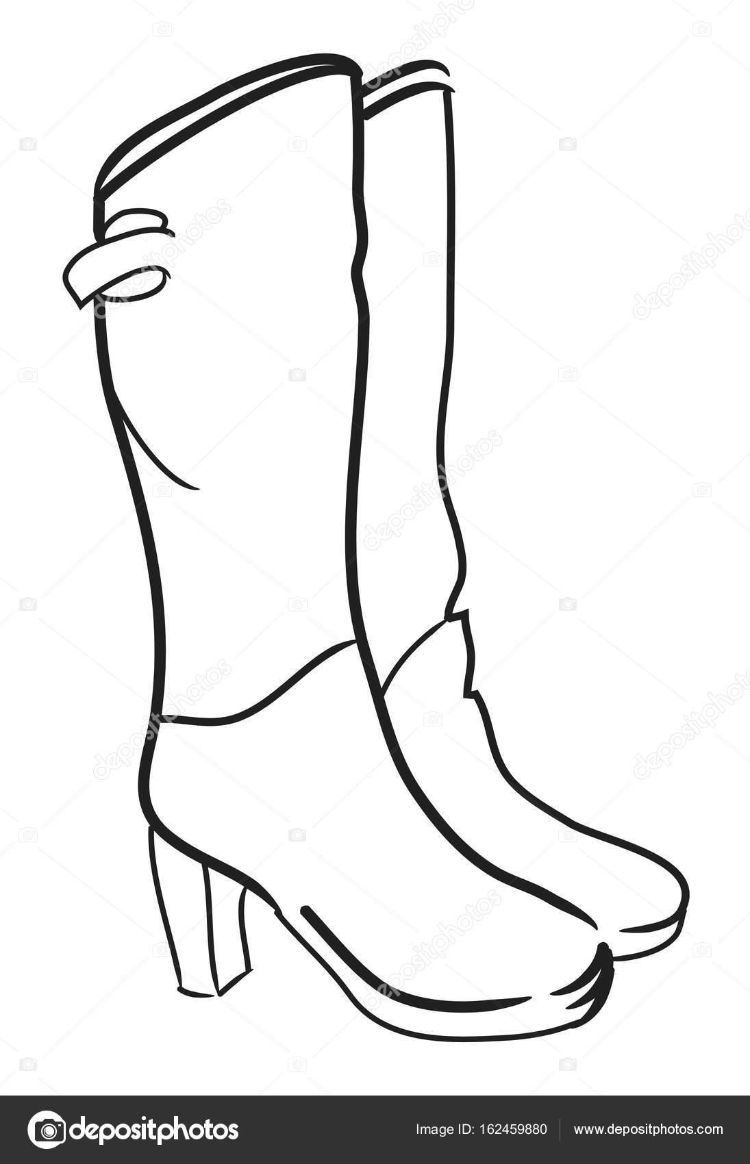 Image de dessin animé de hautes bottes image vectorielle