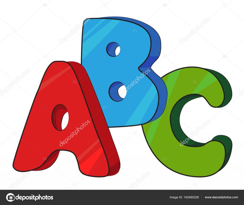 cartoon image of abc letters stock vector lkeskinen0 162460226