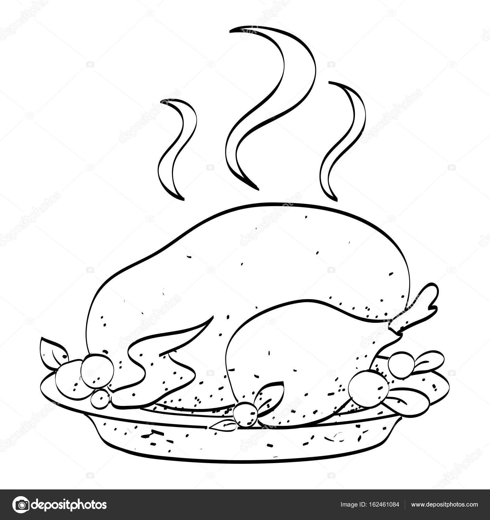 Caricatura de pavo cocido — Vector de stock © lkeskinen0 #162461084