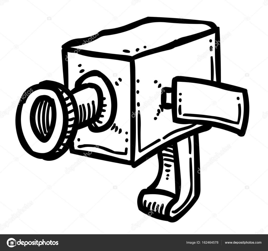 Comic-Bild der Kamera-Symbol. Kamera-symbol — Stockvektor ...