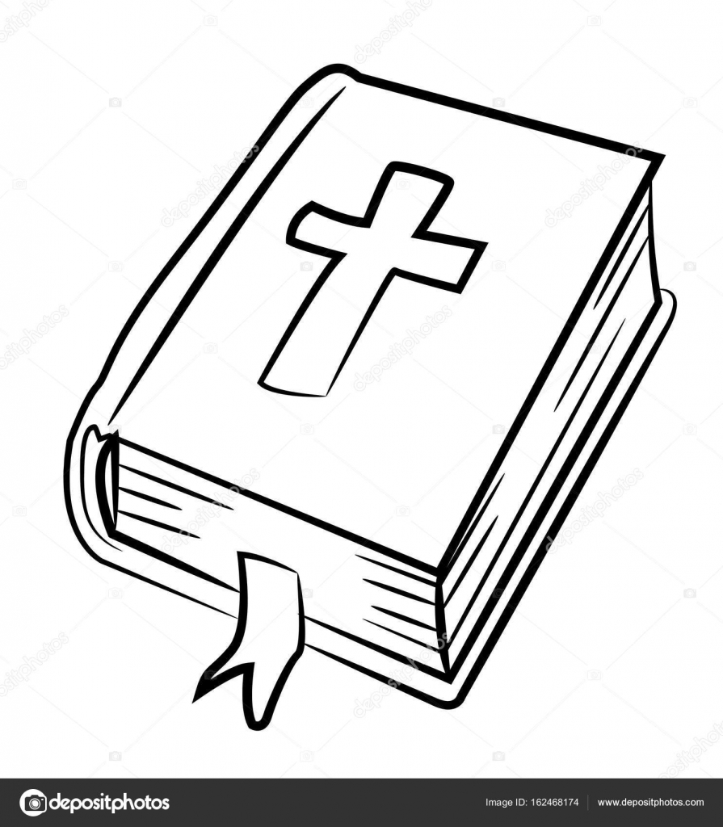 Immagine del fumetto dell 39 icona di bibbia simbolo di - Pagina da colorare di una bibbia ...