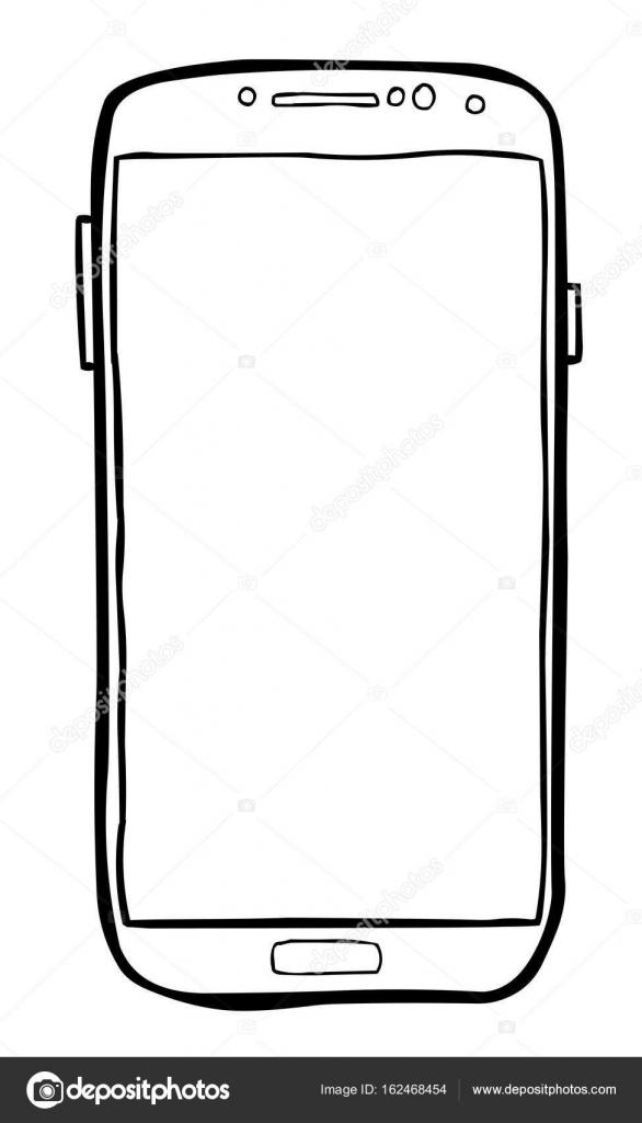 image de dessin anim de l ic ne de t l phone portable pictogramme de smartphone image. Black Bedroom Furniture Sets. Home Design Ideas